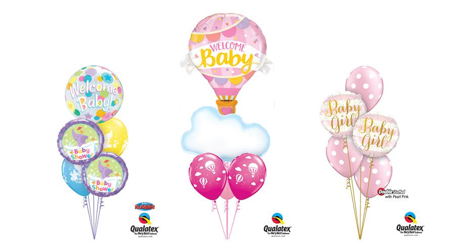 Ballongbukett Babyshower - Flicka