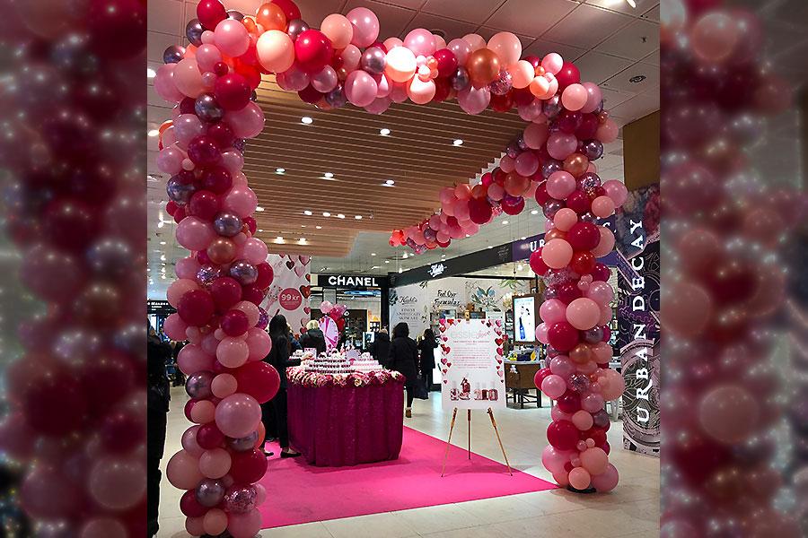 rosa ballongbåge organic