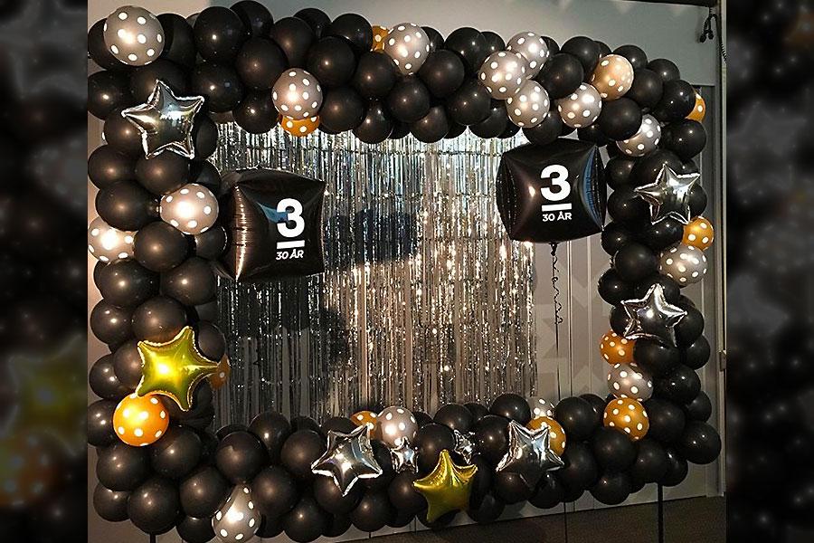 svart guld silver fotoram ballonger